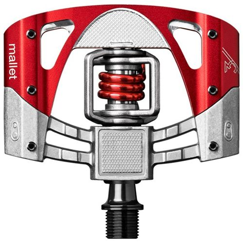 Crankbrothers Mallet 3 Pedale 2016 silber-rot-rot